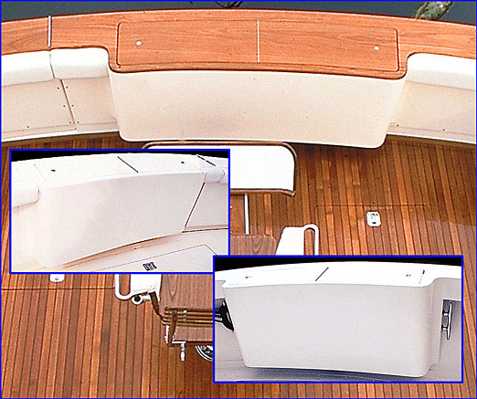 Bertram yachts boats transom fish tanks miami for Fish box for boat