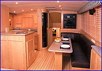 Picture Custom Interior For A Bertram Yacht
